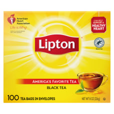 Lipton Tea Bags Box Of 100