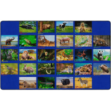 Flagship Carpets Alphabet Animals Area Rug