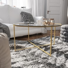 Flash Furniture Round Glass Coffee Table