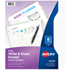 Avery Write And Erase Plastic Divider