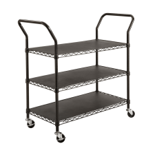 Safco Wire Utility Cart 3 Shelves