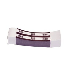 Currency Straps Deep Purple 5000 Pack