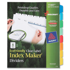 SKILCRAFT Index Maker Clear Label Dividers