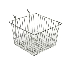 Azar Displays Chrome Wire Baskets Small