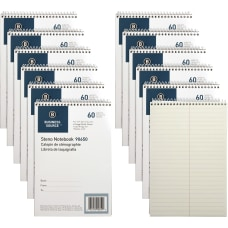 Business Source Green Tint Steno Notebook