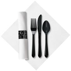 CaterWrap Pre Rolled Cutlery Silver Swirl