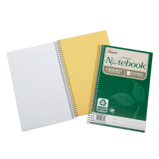 SKILCRAFT 100percent Recycled Spiral Notebooks 6