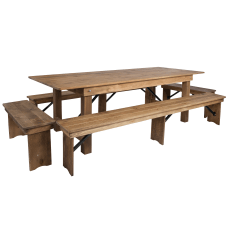 Flash Furniture Folding Farm Table And