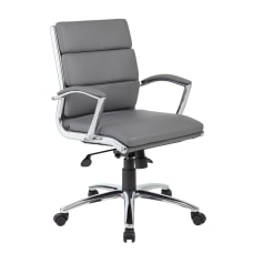 Boss CaressoftPlus Mid Back Chair GrayBlack