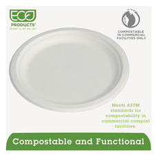 Eco Products Sugarcane Plates 9 Diameter