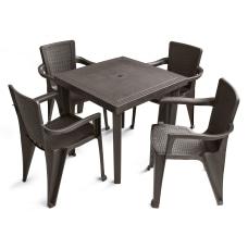 Inval America Polypropylene 5 Piece Table