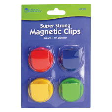 Learning Resources Super Strong Magnetic Clips