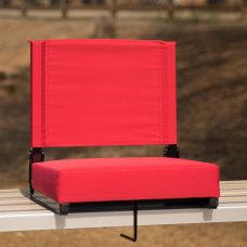 Flash Furniture Grandstand Comfort Seat RedBlack