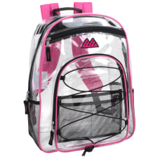 Trailmaker Water Resistant Clear Backpack Pink