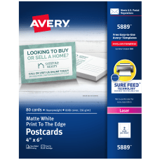 Avery Laser Post Cards 4 x