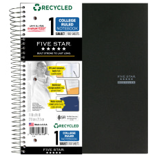 Five Star 50percent Recycled Notebook 8
