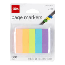 Office Depot Brand Page Markers 12