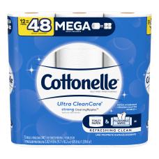 Cottonelle Ultra Clean Care Mega Toilet