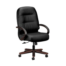 HON Pillow Soft Executive Chair BlackMahogany