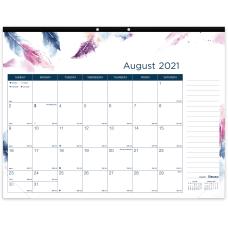 Blueline Boho Academic Monthly Desk Pad