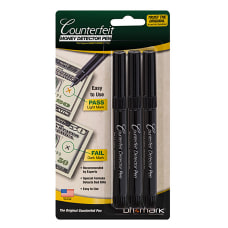 Dri Mark Counterfeit Detector Pens Pack