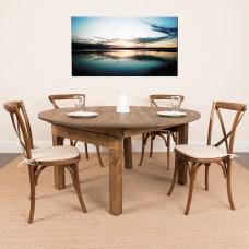 Flash Furniture Round Pine Dining Table