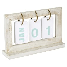 Office Depot Perpetual Wooden Desk Calendar