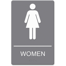 Headline Sign ADA Restroom Sign Womens