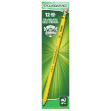 Ticonderoga Pencils Presharpened 2 Lead Soft