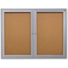 Ghent 2 Door Enclosed Bulletin Board