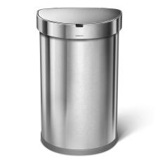 simplehuman Semi Round Sensor Stainless Steel