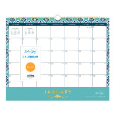 Blue Sky Monthly Wire Wall Calendar