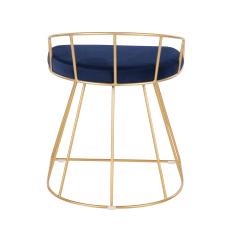 LumiSource Canary Vanity Stool Blue SeatGold