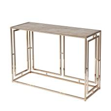 SEI Simondley Faux Marble Console Table