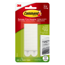 Command Large Picture Hanging Strips White