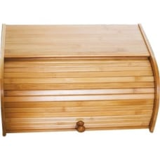 Lipper Bamboo Rolltop Bread Box External