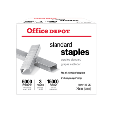 Office Depot Standard Staples 14 5000
