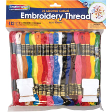 Pacon Embroidery Thread Pack Assorted