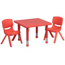 Flash Furniture Square Plastic Height Adjustable
