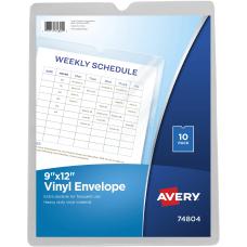 Avery Vinyl Envelopes Heavyweight 9 x