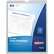 Avery Vinyl File Envelopes 9 x