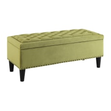 Ave Six Aster Storage Ottoman BasilDark