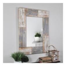 FirsTime Co Mason Planks Rectangular Mirror