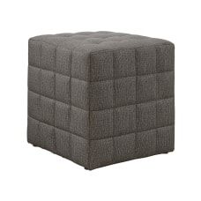 Monarch Specialties Cube Ottoman Light Brown