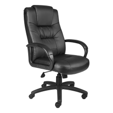 Boss Office Products Silhouette Bonded Leather