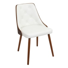 LumiSource Gianna Chair WalnutWhite