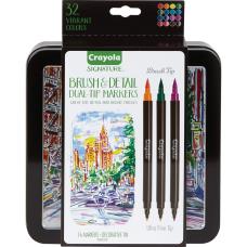 Crayola Brush Detail Dual Tip Markers
