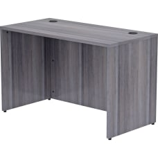 Lorell Essentials 48 W Desk Weathered