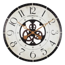 FirsTime Co Carlisle Gears Wall Clock