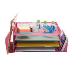Mind Reader 4 Tier Metal Desk